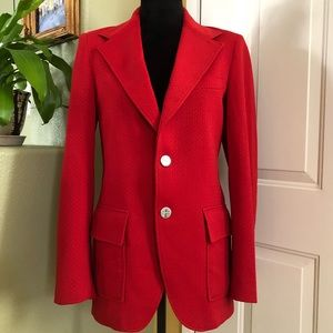 Classic Red Blazer